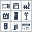 Stock Vector: Vector major appliances icons set