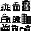 Silhouettes of buildings — Stock Vector