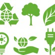 Vector Ecological Icons — Stock Vector
