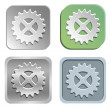 Stock Vector: Gear buttons