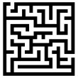 Simple maze — Stock Vector