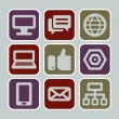 Web and internet icons — Stock Vector