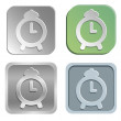Stock Vector: Alarm clock buttons