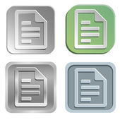 Document knoppen — Stockvector