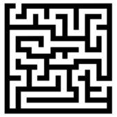 Simple maze — Stock Vector