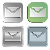 Mail buttons — Stockvektor