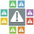 Stock Vector: Alert icons