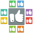 Thumbs up icons — Stock Vector