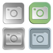 Camera buttons — Stock Vector