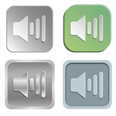 Volume buttons — Stock Vector