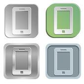 Smartphone düğmeleri — Stok Vektör