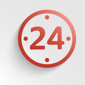 Vector sign - 24 hours a day in the form of a clock — Vector de stock