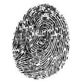 Vector dirty fingerprint on white background — Stock Vector