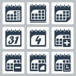 Stock Vector: Vector isolated calendar icons set