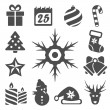 Vector isolated christmas icons set — Stock Vector