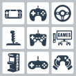 Vector video games icons set — Stock Vector