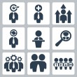Vector business and partnership icons set — Stock Vector