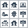 Stock Vector: Vector real estate icons set