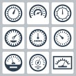 Vector isolated meters icons set — Stock Vector