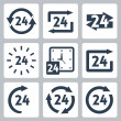 Stock vektor: Vector '24 hours' icons set