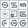 Stock Vector: Vector '24 hours' icons set