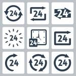 Vector '24 hours' icons set — Vector de stock