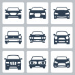 Vector isolated cars icons set — Stock Vector #34992469