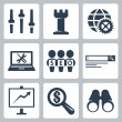 Vector isolated seo icons set — Stock vektor