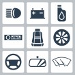 Vector auto parts icons set — Stock Vector #34992579