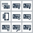 Vector credit card icons set — Stock Vector