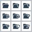 Vector isolated folder icons set — Stock Vector