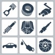 Vector car parts icons set — Stock Vector