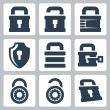 Stock Vector: Vector isolated lock icons set