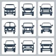 Vector van icons set: front view — Vektorgrafik