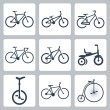 Vector isolated bicycles icons set — Stock Vector #34994171