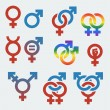 Vector symbols of sexual orientation and gender — Stock Vector