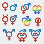 Vektor Symbole sexueller Orientierung und Geschlecht — Stockvektor  #34994475