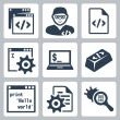 Stock Vector: Vector programming and software development icons set
