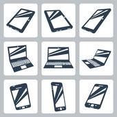 Wektor zestaw ikon urządzeń cyfrowych — Wektor stockowy