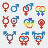 Vector symbols of sexual orientation and gender — Stock Vector