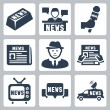 Stock Vector: Vector news and journalism icons set