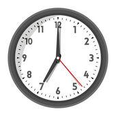 Vector illustration of office wall clock — Stock Vector