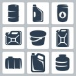 Vector cans and barrels icons set — Stock Vector #37237281