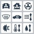 Vector air conditioning icons set — Stock Vector #37237443