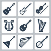 Vector musical instruments: strings — Stock Vector
