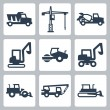 Stock Vector: Vector construction equipment icons set