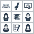 Stock Vector: Vector higher education icons set