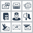 Vector post service icons set — Stock Vector #42121801