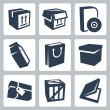 Stock Vector: Vector isolated package icons set 1