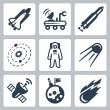 Vector space icons set — Stock Vector #42122113